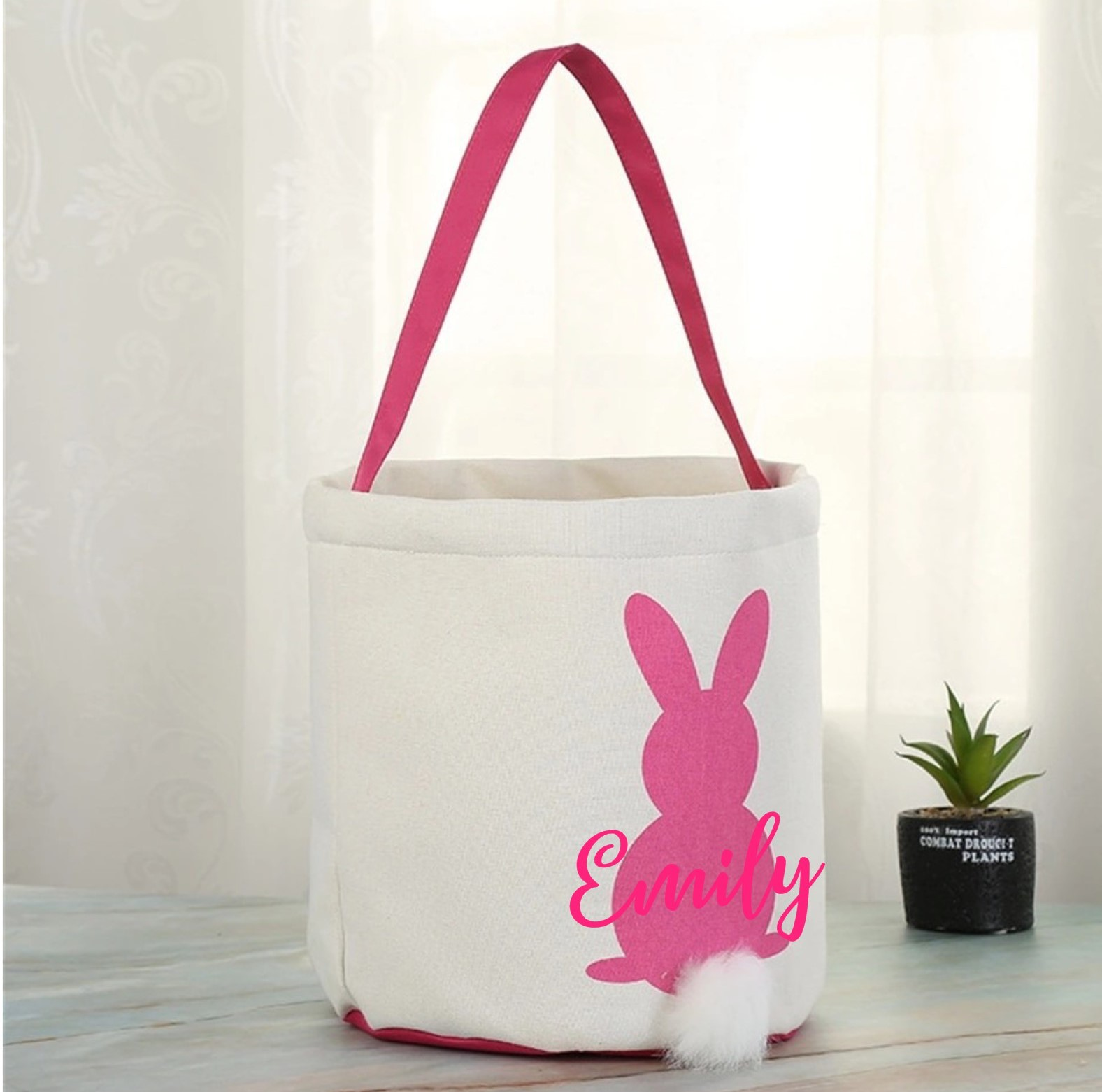 ac05bcd1c02a Personalised Easter bunny bag Pink
